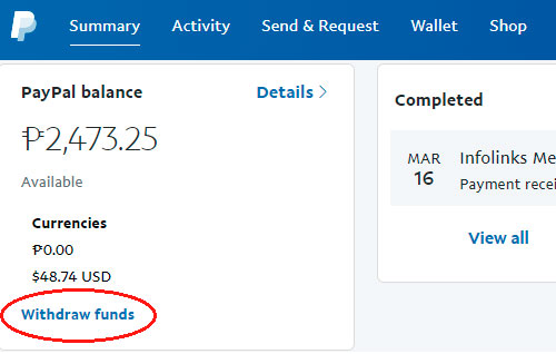 Withdraw Money Paypal