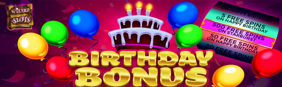 Wizard Slots Casino Birthday Bonus